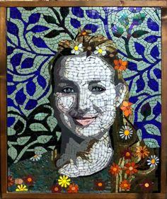 Luana Mosaic, December 2014 - Glasses, Mirrors, Ceramics, Smalti. Dimensions : 21 x 24' (53 x 60 cm) Price : 3,000 Euros Sold