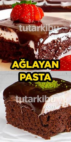Ağlayan Pasta Tarifi Chocolate Turtles, Chocolate Cake, Cake Recipes, Dessert Recipes, Desserts, Saffron Cake, Hamburger, Tart, Food And Drink