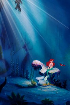 The Little Mermaid movie by Walt Disney. Walt Disney, Disney Love, Disney Art, Ariel Disney, Mermaid Disney, Ariel The Little Mermaid, Ariel Mermaid, Disney Animation, Disney And Dreamworks