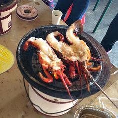 漁港の朝市で自由に焼いて食べれます‼︎ - 121件のもぐもぐ - 朝から伊勢海老‼︎(笑) by Yoshinobu Nakagawa