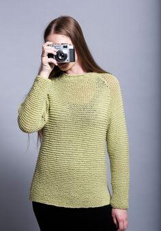 Make the Stacey Raglan Sweater using Jo Sharp New Era Merino DK Superwash yarn and working in Garter stitch. Garter Stitch, Hand Knitting, Pullover, Digital, Fabric, Sweaters, How To Make, Collection, Fashion