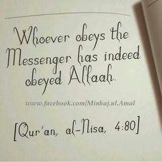 Quran al-Nisa 4:80