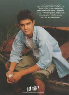 Joshua Jackson Dawsons Creek Got Milk? Ad #Got Milk