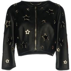 Philipp Plein Jacket (3 670 AUD) ❤ liked on Polyvore featuring outerwear, jackets, black, real leather jackets, 100 leather jacket, single breasted jacket, zipper leather jacket and philipp plein