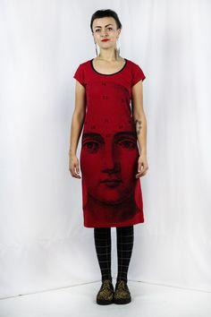 Skull Phrenology - Back Seam Cap Sleeve Dress Ethical Clothing, Fashion Brand, Skulls, Cap Sleeves, Shirt Dress, Fabric, Shirts, Clothes, Collection