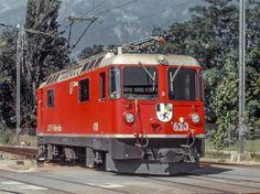 "Maurizio Messa | RhB Ge4/4'' 620 | RhB Ge4/4'' 620 ""Zernez"" - Landquart - 08.08.1988"