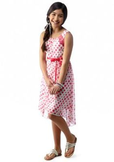 Speechless  Polka Dot High-Low Chiffon Dress Girls 7-16