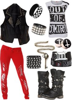 """""""Punk."""" by ssmcdaniel ❤ liked on Polyvore"""