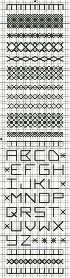 Free Band Sampler Bookmark Cross Stitch and Cross Stitch Variation Chart: Free…