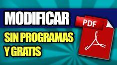 Cómo Modificar un PDF Sin Programas y Gratis