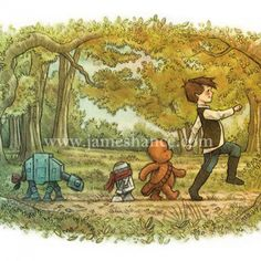 A Most Bold Adventure.  LOVE this print that is a mix of Winnie the Pooh with a Star Wars twist!