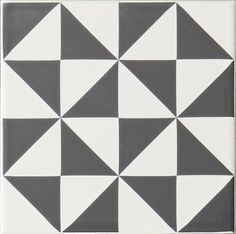 Odyssey St Malo Grey on Brilliant White 15.2 x 15.2cm - part of the Tapestry Collection
