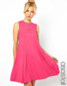 ASOS Tall   ASOS TALL Sleeveless Swing Dress at ASOS