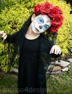 sugar skull costume  I am going to try this.