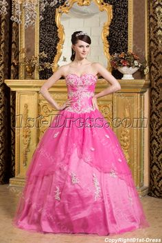 a2ad344d402 7 Best Attractive Fuchsia Quinceanera Dress images