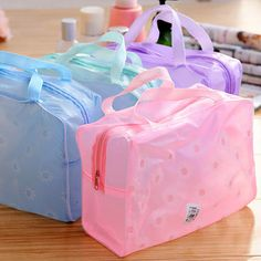 women bag Pvc Women Wash Bag Waterproof Cosmetic Bags Travel Small Daisy Printing Portable Storage Cosmetic Bag 45