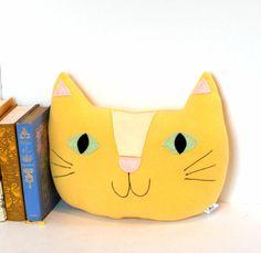 Giant Cat Pillow Nursery Decor Kids Room by FriendsOfSocktopus