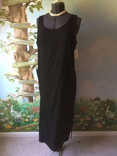 Harve' Benard Petite Women's Black Sleeveless Dress SZ 12P NWT #HarvBenard #Casual
