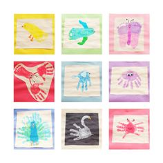 cute handprint crafts!