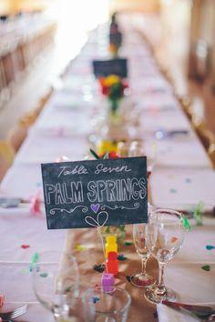 Lugares y numeros para mesas de bodas, una idea super original! - 25 ideas de numeros para mesas de bodas!