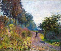 O Caminho protegido - The Sheltered Path  Monet, Claude    Óleo sobre tela   (1873)    Coleção Particular