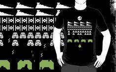 Star Wars Space Invaders by mjcowan #starwars #spaceincaders #games #movie #shirt