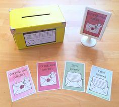 Briefkastenschild für den Klassenbriefkasten in der Grundschule