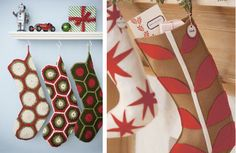 felt christmas stockings martha stewart   Our top 3 pics for DIY stockings after the jump. You'll love these!