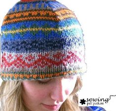 Sewing: Recycled Sweater Hat Pdf pattern
