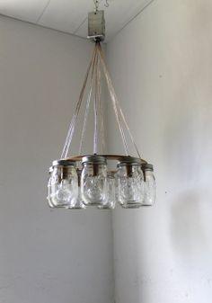 Love this mason jar light idea