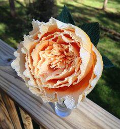 Centro de mesa boda peonía flor de papel de papel por APaperEvent
