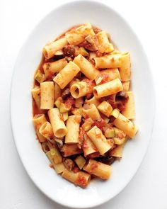 Rigatoni with Chunky Vegetable Sauce #whbmfoodies