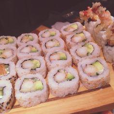 Tempura Sushi Roll; fried tempura shrimps. Food and Art @Asian Lounge, Zwolle Zuid