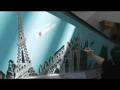 80초간의 세계일주 BY 대한항공 ( Drawing the World on an 80 meter Canvas - Seoul Station, Incheon Airport Express Line) #KoreanAir