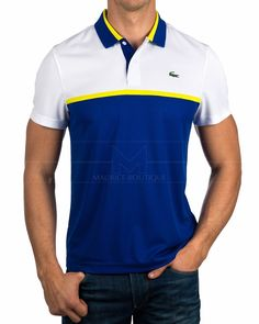 Polos Lacoste ® Hombre - Citronnier | ENVIO GRATIS Lacoste Polo Shirts, Blue Polo Shirts, Golf Polo Shirts, Camisa Polo, Polo Shirt Design, Polo Outfit, Mens Fashion Wear, Sport T Shirt, Men Looks