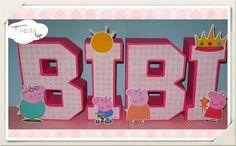 Letras 3D Peppa Pig