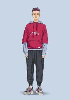Clothing Sketches, Fashion Sketches, Teen Fashion, Fashion Art, Fashion Design, Character Outfits, Character Art, Boy Drawing, Man Illustration