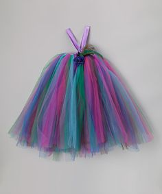 Take a look at this Peacock Tutu Dress & Flower Clip - Infant, Toddler & Girls by Bébé Oh La La on #zulily today!