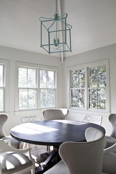 Gray and Yellow Dining Room - Contemporary - dining room - Pieces Inc
