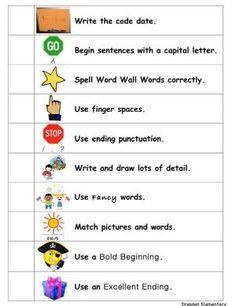 first grade writing - Google Search by Kelly Elizabeth xY7Nj