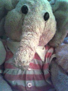 LOST in WOOLWICH, LONDON, UK This cute elephant cuddly toy teddy wearing a red and white striped shirt was lost in Woolwich, London UK. Have you seen her? Contact: https://www.facebook.com/leigh.pentland.1 or https://www.facebook.com/TeddyBearLostAndFound