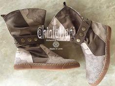 Pure Vegetarian, Vegan 100% cotton canvas shoes-boots with sacred Shipibo Ayawaska tribe patterns