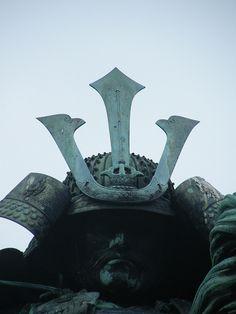 Masashige Kusunoki statue (1294-1336): a samurai who served the emperor Go-Daigo in Japan