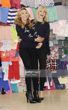 Abbey Clancy and Zoe Ball attends a photocall to launch the M&S 'Love, Mum' shwopping campaign in conjunction with Oxfam at Marks & Spencer Marble Arch on February 4, 2014 in London, England.