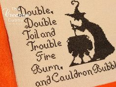 Halloween Witch Cross Stitch Pattern PDF by TheCreativeCubby, $3.50