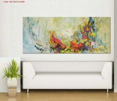 72x30 abstract painting contemporary huge large painting xxl FREE shipping to CA/US