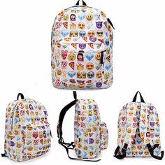 GENERIC GALAXY PRINT SHELL BACKPACK SPIKED PUNK SCHOOL BAGS UNISEX GENUINE BAG