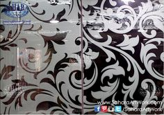 Elegant silver mirrors, with alternative classic sandblasted designs