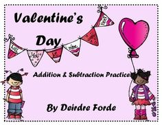 Add a little holiday fun to your math lessons this Valentine's Day with these hands- on, engaging activities. They are perfect for math centers or used in interactive notebooks.Included:12 story problem activity cardsFind The Missing Number Center Activity - task cards, recording sheet, follow -up practice workheet , and 120 chart included (this is fun to use with Conversation Hearts)True/ False Equation SortMissing Valentines - counting by 2s, 5s, 10s reviewThanks for checking it ...