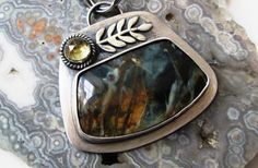 Morrisonite Pendant in Sterling Silver by The Red Poppy Shop on Etsy, $159.00